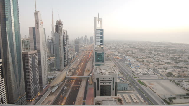 Sheik Zayed road timelapse. Dubai video