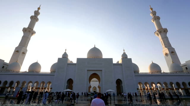 Sheikh Zayed Grand Mosque Abu Dhabi UAE video