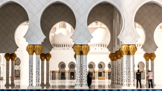 Sheikh Zayed Grand Mosque timelapse located in Abu Dhabi - capital city of United Arab Emirates video