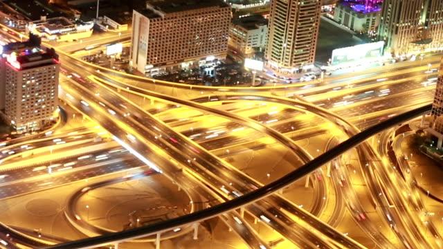 sheikh zayed road - zeitraffer fast motion stock-videos und b-roll-filmmaterial