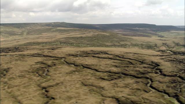 Shelf Moor  - Aerial View - England, Derbyshire, High Peak District, United Kingdom video