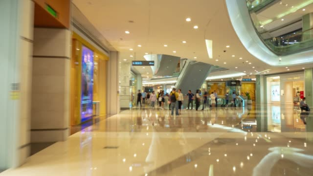 Shenzhen centro comercial famoso interior Walking panorama 4k timelapse China - vídeo