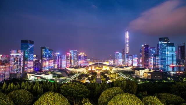 ShenZhen city laser show.time lapse ShenZhen city laser show.time lapse office park stock videos & royalty-free footage