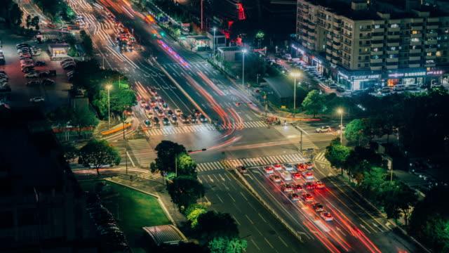 vidéos et rushes de shenzhen shazui jonction retard de nuit - route surélevée