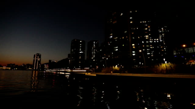 Shenzhen - Shekou, China at night video