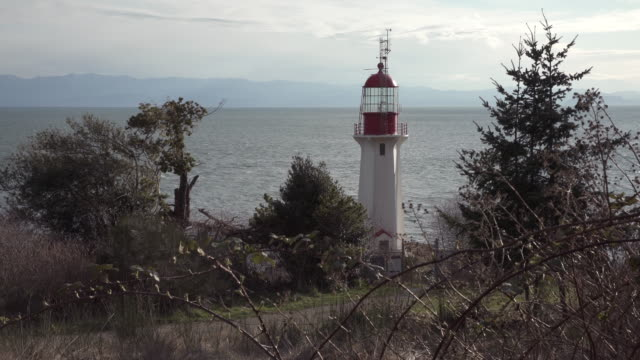 Sheringham Point lighthouse Vancouver Island 4K UHD