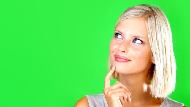 she's got another great idea! - distrarre lo sguardo video stock e b–roll