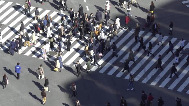 渋谷、日の時間 - 雑踏点の映像素材/bロール