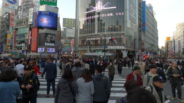 渋谷クロッシングハイパーラプス 東京 - 交差点点の映像素材/bロール
