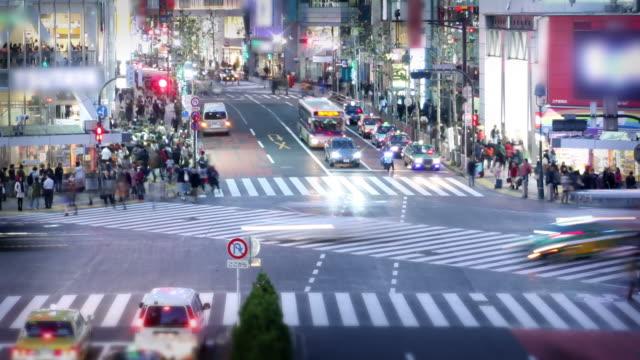 Shibuya Crossing in Tokyo, Japan video