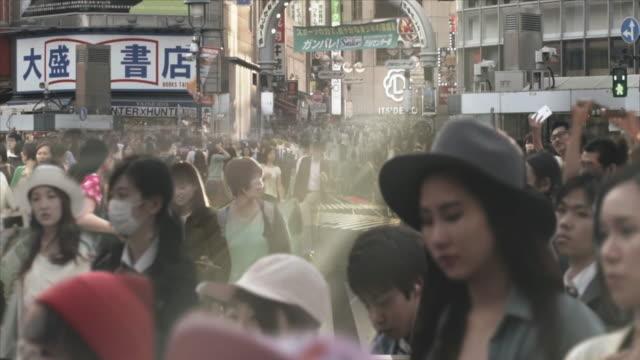 渋谷交差点群集視差と cinemagraph 東京。 - ストリートファッション点の映像素材/bロール