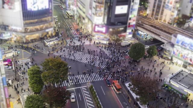 澀谷渡斜移時間推移 - 澀谷交叉點 個影片檔及 b 捲影像
