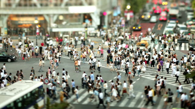 stockvideo's en b-roll-footage met shibuya crossing - japan