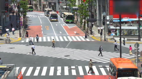 Shibuya scramble crossing Shibuya in Tokyo  scramble crossing during corona lock down japan stock videos & royalty-free footage