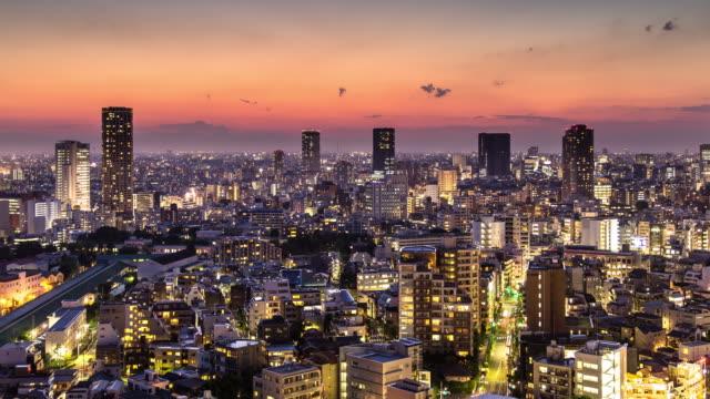 Shibuya Ward, Tokio - Dämmerung, Nacht-Zeitraffer – Video