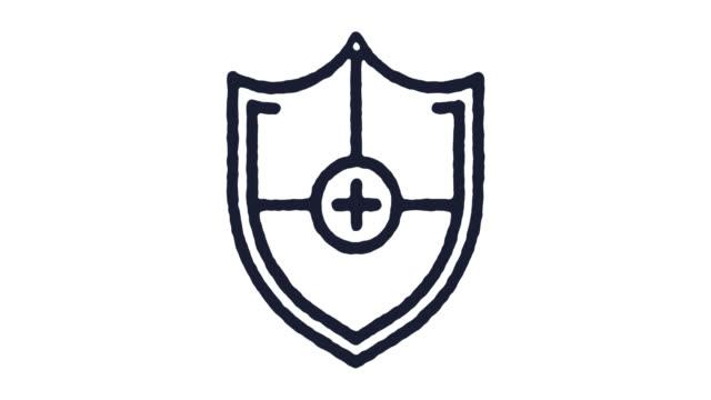 vídeos y material grabado en eventos de stock de escudo icono de animación de archivo de vídeo & canal alfa - shield