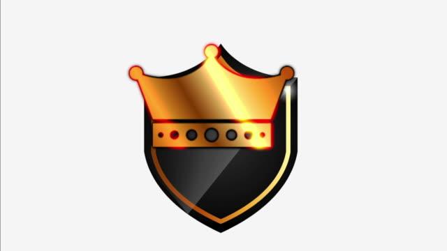 Shield icon design, video animation video