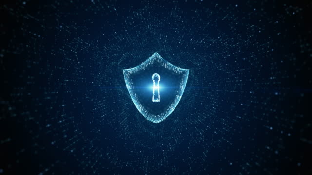 Shield Icon of cyber security. Digital data network protection. High-speed connection data analysis. Technology data binary code network conveying. Future technology digital background concept. Shield Icon of cyber security. Digital data network protection. High-speed connection data analysis. Technology data binary code network conveying. Future technology digital background concept. keyhole stock videos & royalty-free footage
