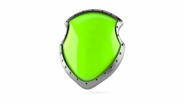 vídeos de stock e filmes b-roll de escudo - escudo