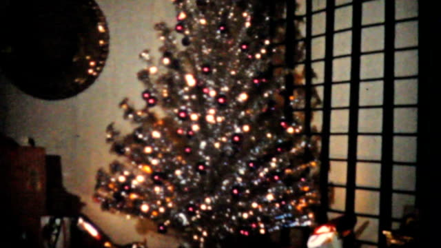 Shimmering Christmas Tree-1965 Vintage 8mm film video