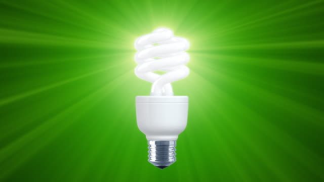 Shine of Compact Fluorescent Light Bulb (HD1080) Center