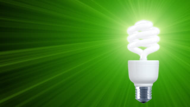 Shine of Compact Fluorescent Light Bulb (HD1080) Right video