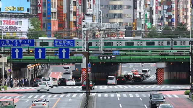 新宿、東京 - 列車点の映像素材/bロール