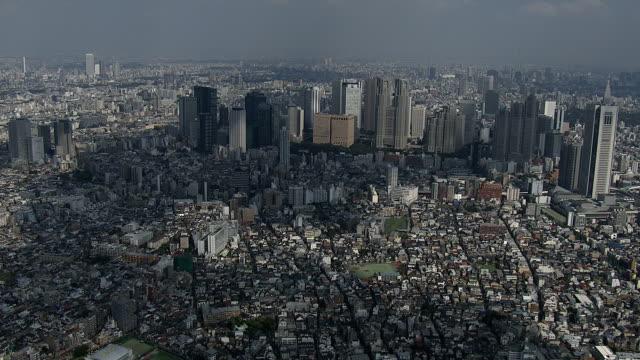 Shinjyuku subcenter of city Tokyo office park stock videos & royalty-free footage