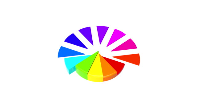 Shiny Animated 3d Pie Chart Stock Video - Download Video