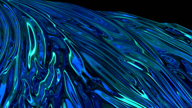 Shiny blue cloth or blue silk fabric waving at wind in slow Fabric shiny blue background in motion. Smooth waves of matter waving from the wind refraction stock videos & royalty-free footage