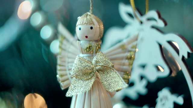 Shiny decorative angel video