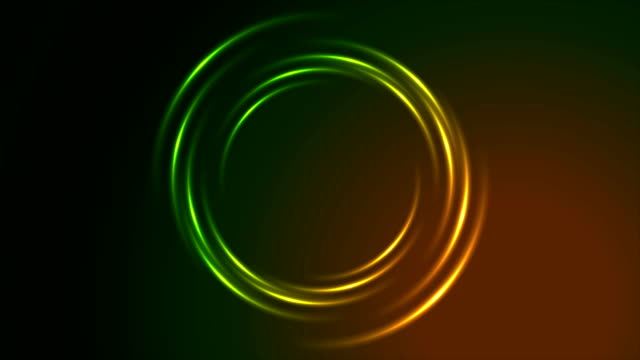 Shiny glowing neon circle swirl video animation video