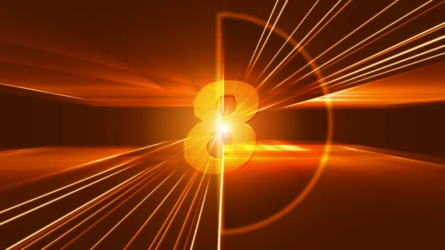 vídeos y material grabado en eventos de stock de un temporizador de cuenta regresiva naranja brillante - sparks