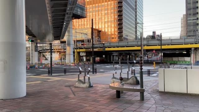 vídeos y material grabado en eventos de stock de shiodome en japón, paisaje de tokio - zona urbana
