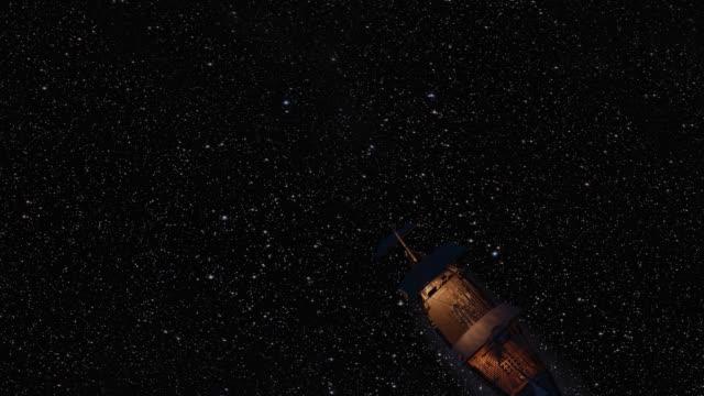 暗い星空を送る - パティオ点の映像素材/bロール