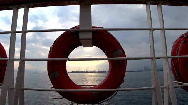ship and sea, sky view video