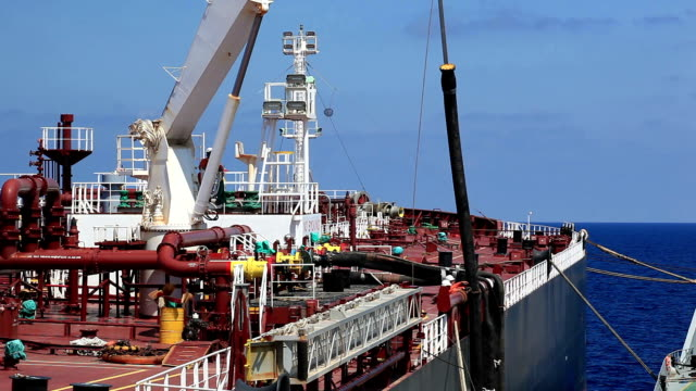 Ship bunkering operation Ship bunkering operation. HD Canon Mark 2. indian ocean stock videos & royalty-free footage