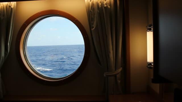Ship Stateroom Porthole HD video
