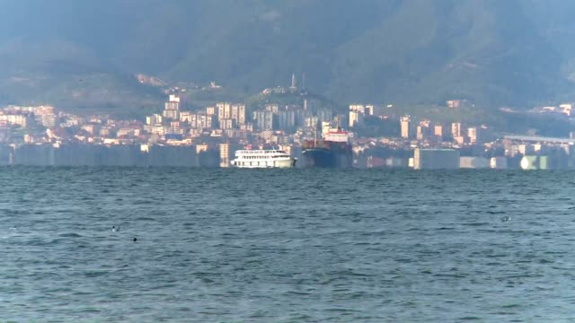 ship city transport with ship aegean turkey stock videos & royalty-free footage