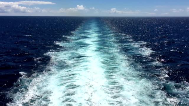 Ship wake video