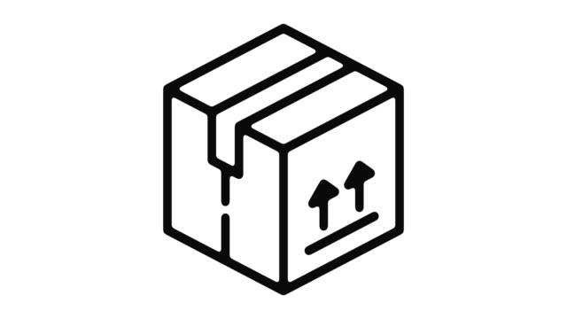 出荷ライン モーション グラフィック - アイコン プレゼント点の映像素材/bロール