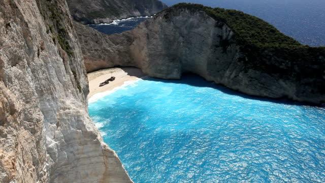 Shipwreck Bay Beach in Greece video
