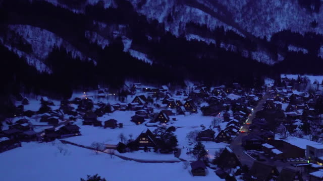 Shirakawago Gassho-Dukuri Heritage village, Gifu, Japan video