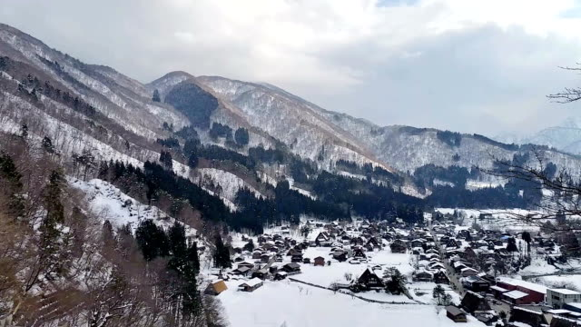 白川郷岐阜県中部世界遺産日本 - 冬点の映像素材/bロール