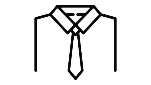 vídeos y material grabado en eventos de stock de camiseta línea motion graphic - corbata
