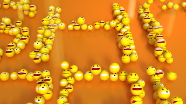 shit happens aus emoticons smily gesichter - smiley stock-videos und b-roll-filmmaterial