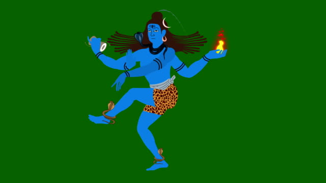 Shiva The Destroyer With Holy Symbols on a Green Screen video