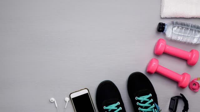 신발 그만 모션 - 운동장비 스톡 비디오 및 b-롤 화면