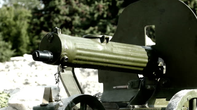 shooting from an old machine gun video