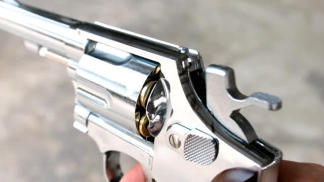 Shooting Gun or Pistol or Revolver Side View video